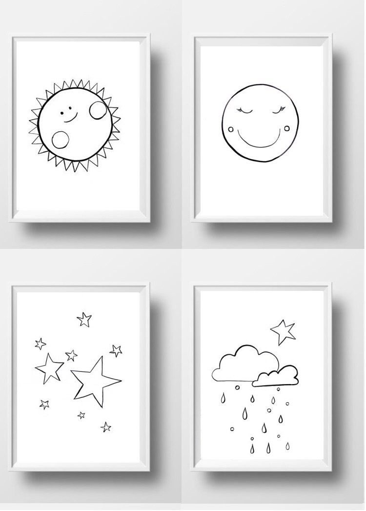 657c8202552f1 Pin by Jackie Smith on Baby in 2019 | Stars, moon, Nursery drawings ...