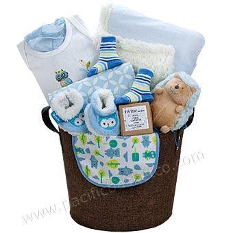 Precious boy baby gift basket Vancouver, BC | Baby gift ...
