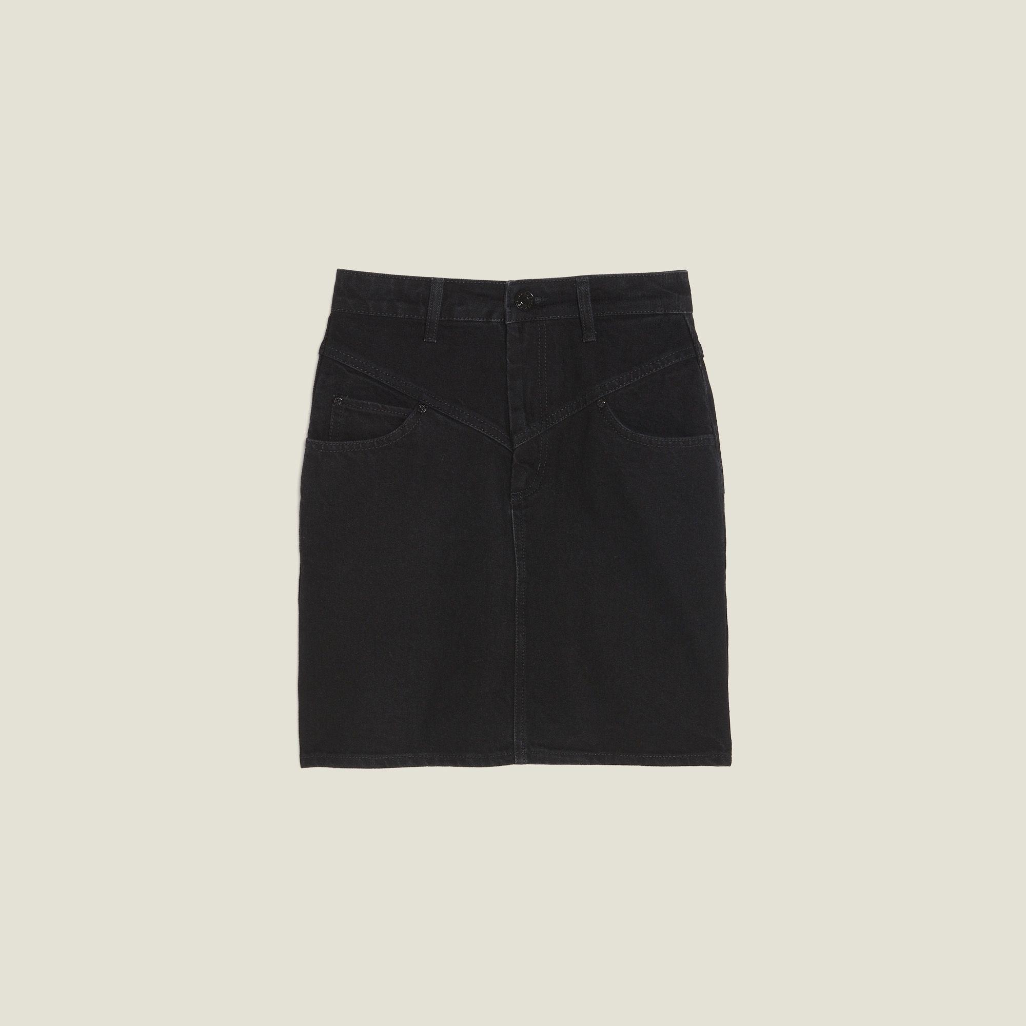 c4c5517c1e9382 Sandro Short denim skirt in 2019 | ss20 | Denim skirt, Skirts, Denim ...