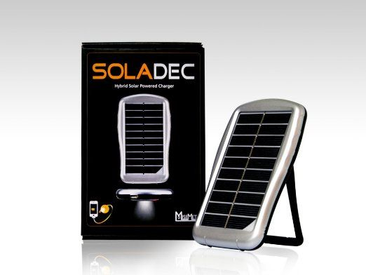 Soladec Hybrid All In One Portable Solar Power Charger And External Battery Pack With Integrated Ult Solar Power Charger Portable Solar Power Solar Usb Charger