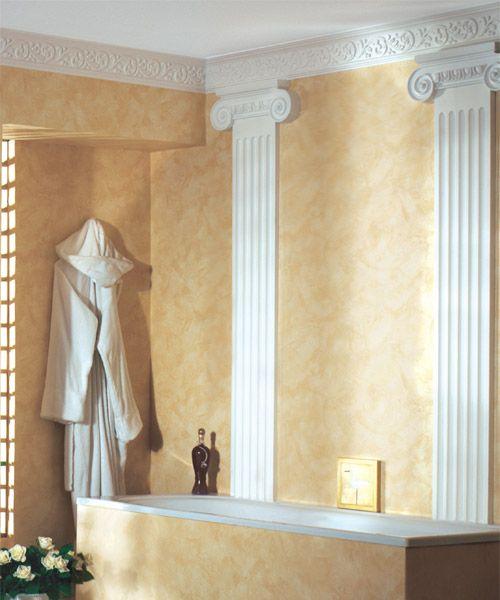 Savannah Crown Molding In The Bathroom