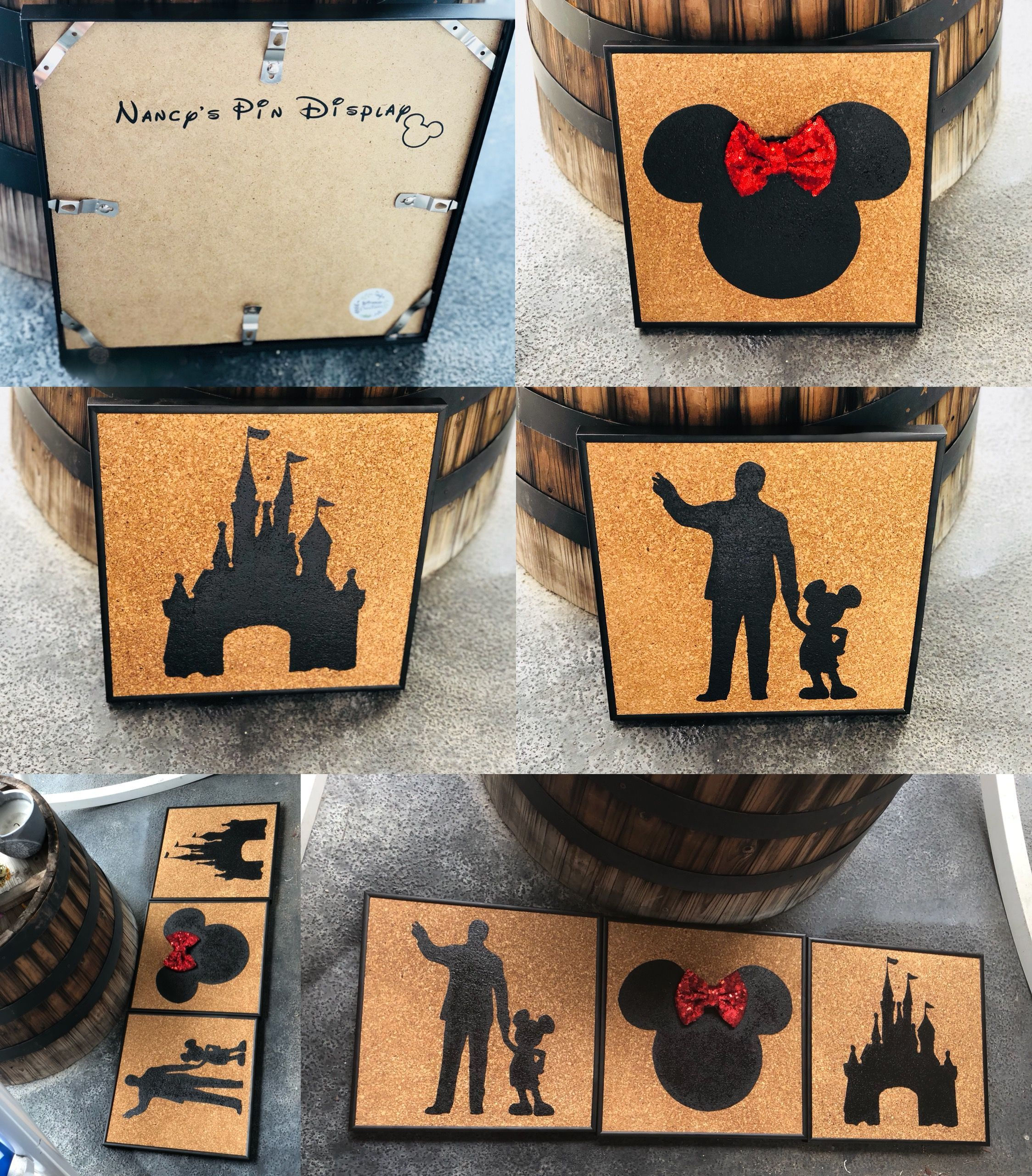 Disney pin display holders 12x12 bought the frames