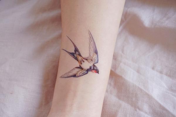 50487630cd7c7 Hummingbird Tattoo Swallow Tattoo NEck TAttoo Alchemist Tattoo Pet Tattoo  Small Tattoo Animal Tattoo sticker temporary tattoo Pink Tattoo Flash Girl  Tattoo ...