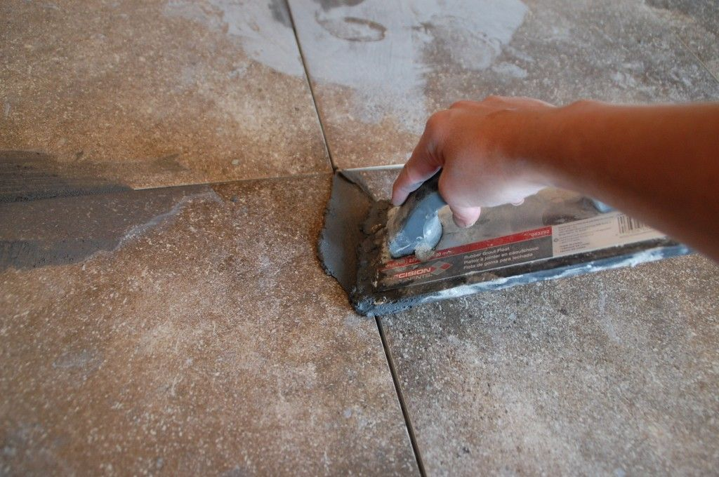 How To: Grout Tile   Diy flooring, Grout, Diy house projects