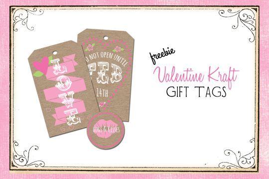 Free Printable Download -  Valentine Kraft Gift Tags