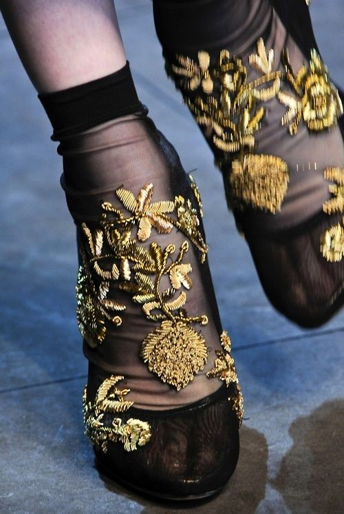 Dolce and Gabanna Embroidered socks