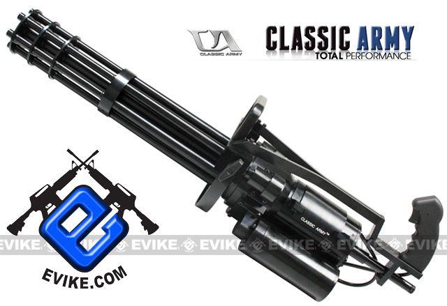 Classic Army Vulcan M134 A2 Gatling Airsoft Minigun 550 Fps Co2 6 Barrel Airsoft Guns Classic Army Airsoft