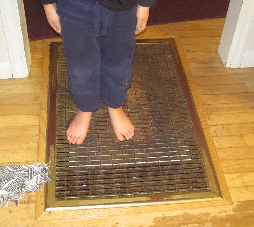 How Can I Protect My Kids Toes From This Evil Grating In The Floor Floor Furnace Flooring Furnace