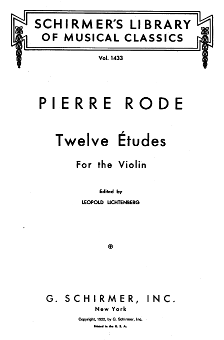 12 Etudes for Violin (Rode, Pierre) - IMSLP/Petrucci Music Library