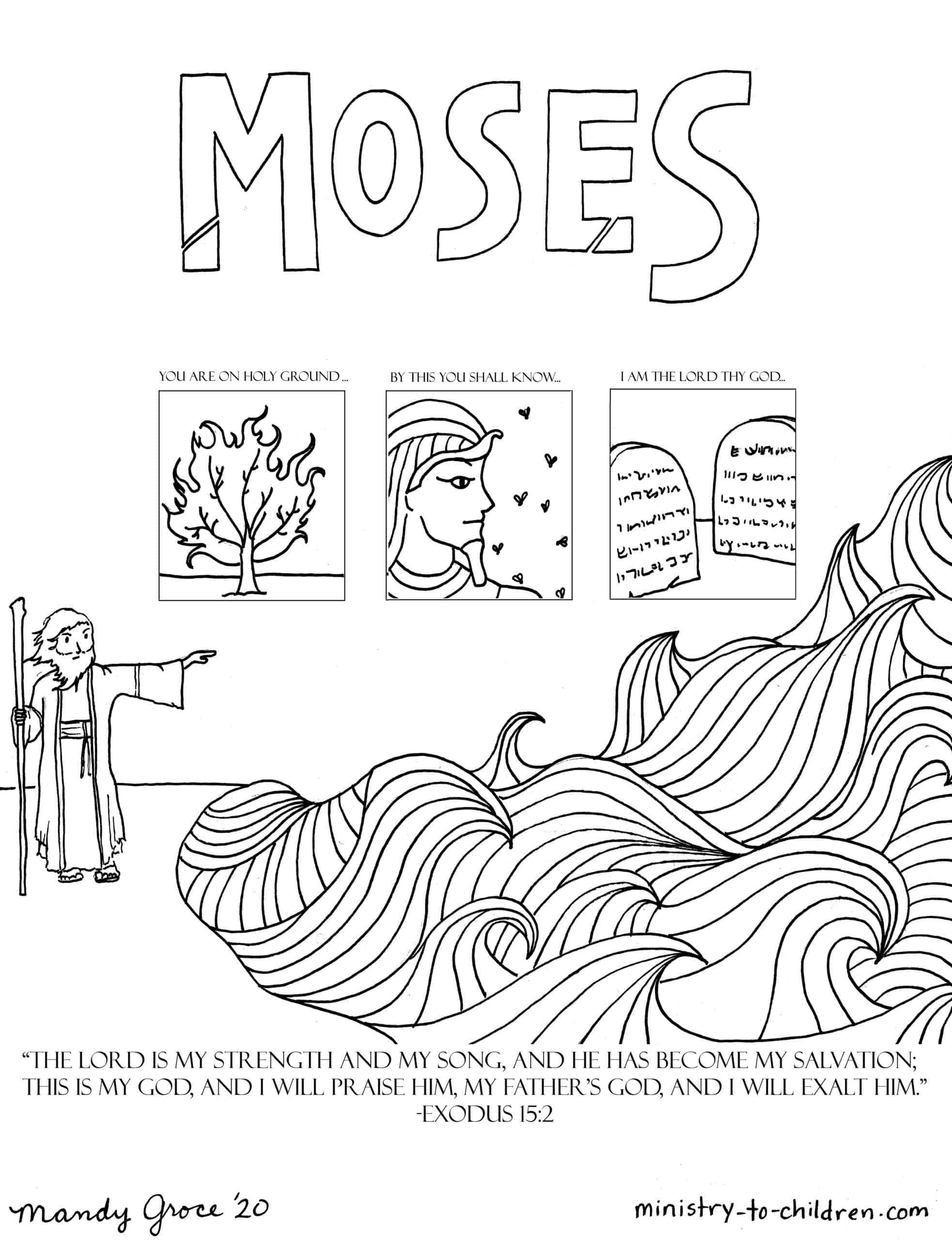 Moses Coloring Pages For Sunday School Moses Coloring Page