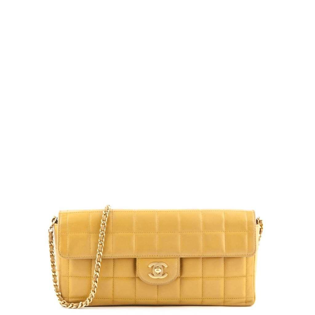 324560e3a018 Chanel Caramel Lambskin Chocolate Bar Flap Bag - LOVE that BAG - Preowned  Authentic Designer Handbags