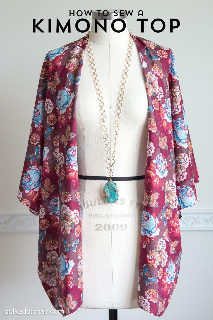 How to Sew a Kimono Jacket | Kimono jacket, DIY fashion and Kimonos