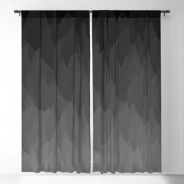 Fade To Black Ombre Flame Gradient Grayscale Pattern Blackout Curtain Curtains Blackout Curtains Ombre Curtains