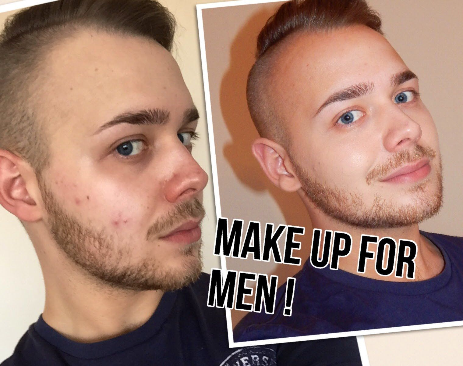 Makeup For Men - The Best Products, Tips and Demo. Natural