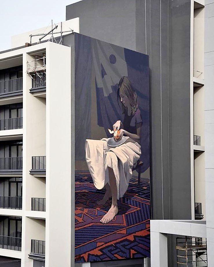 """ETAM CRU,""""Girl with the orange"""", in Dubai, UAE, 2016"""