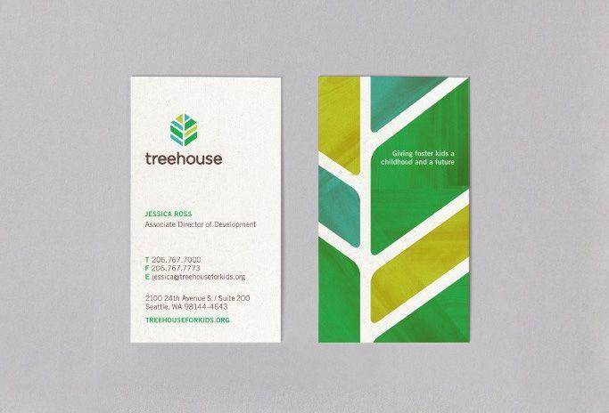 Treehouse - Business Card Design Inspiration   Card Nerd