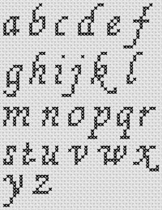 Photo of Preview of Cross Stitch Patterns: A to Z Alphabet Sampler (Small Letter Cursive)