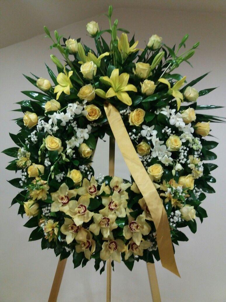 Pin by vivian lim on wreath pinterest funeral casket flowers casket flowers funeral caskets floral design diy wreath crowns design of flowers izmirmasajfo Choice Image