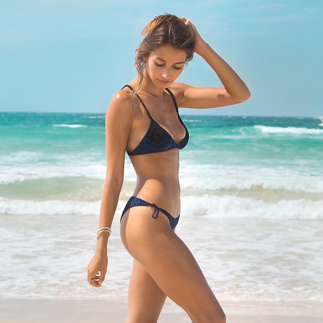 Tulum Color Blocked Bikini Bottom