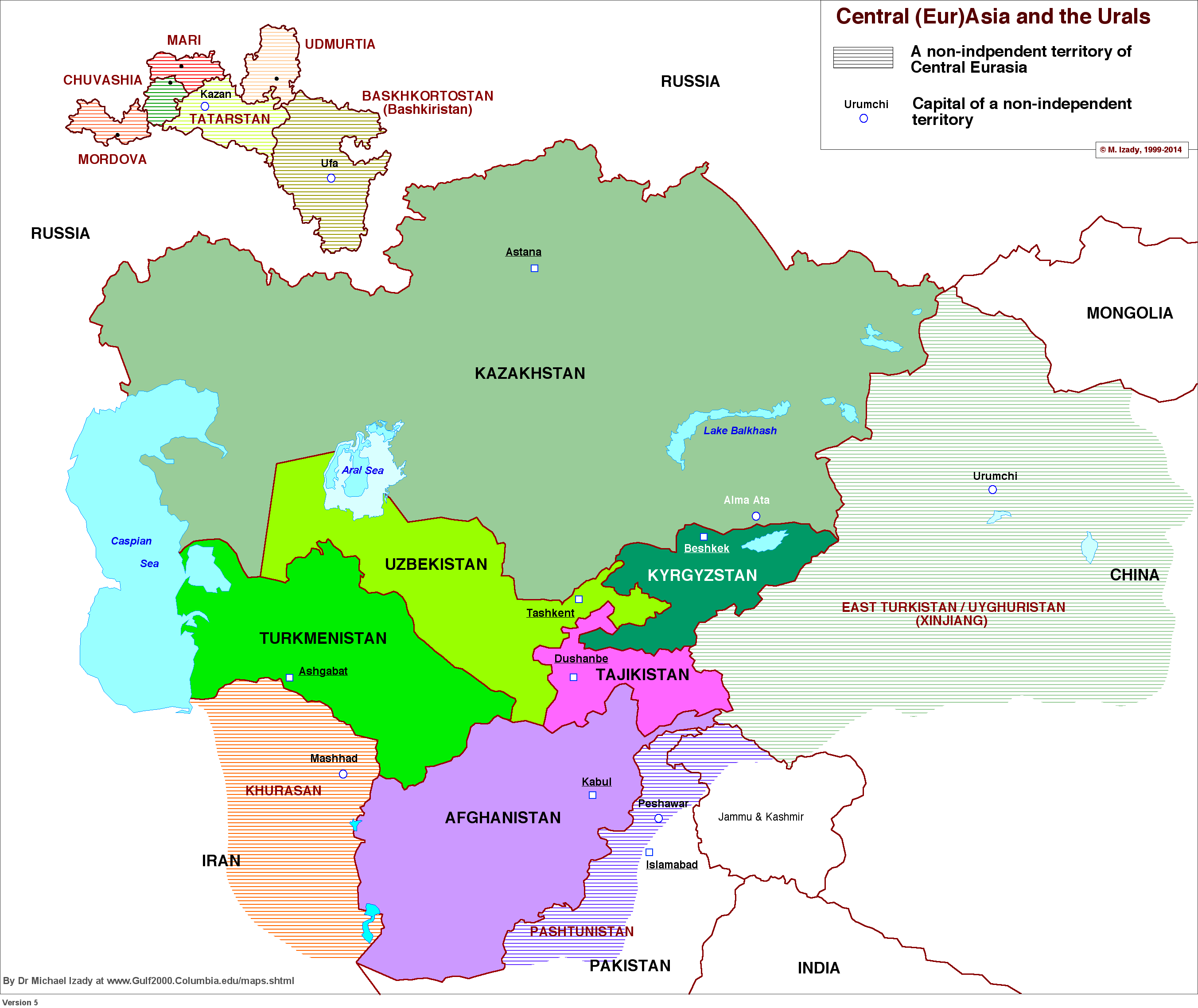 Central Asia And The Urals Central Asia Info Graphics - Asia language map