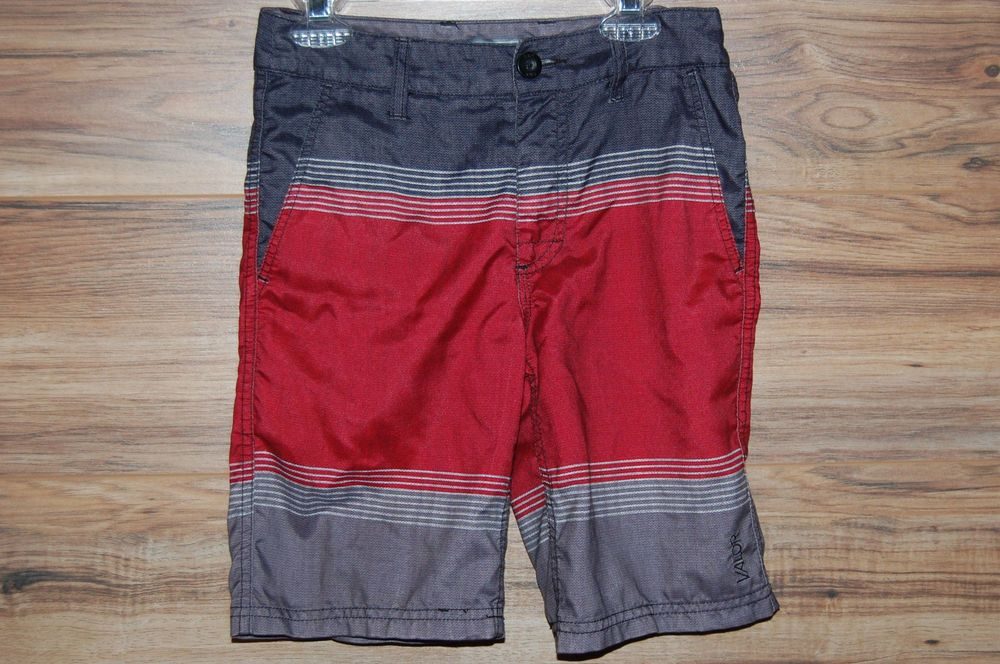 cbfb498aa8 Valor Collective Boys Board Shorts Hybrid Swim Trunks Size 8 Red Black Gray  #ValorCollective #BoardShorts