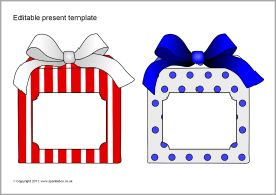 Editable present/gift templates (SB6469) - SparkleBox | worksheets ...