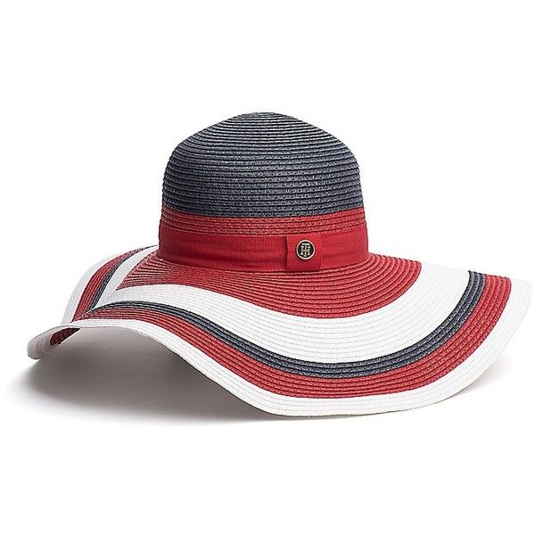 Tommy Hilfiger Colorblock Floppy Hat (6770 RSD) ❤ liked on Polyvore featuring accessories, hats, block hats, brimmed hat, paper hats, tommy hilfiger hats and floppy hat