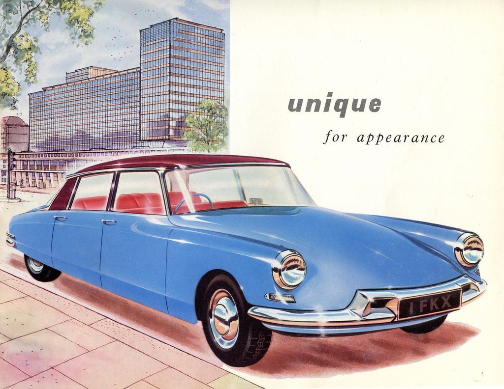 Citroën iD / DS brochure for the british market, early 1960s ...