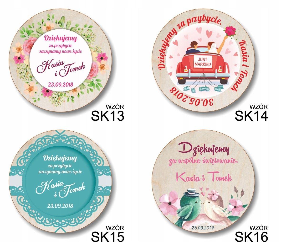 Podziekowania Gosci Slub Pamiatka Magnes Sklejka Decorative Plates Plates Home Decor