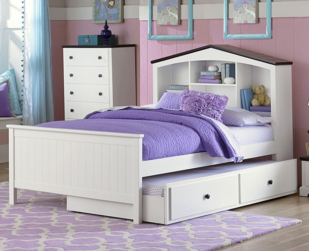 free headboard overstock bookcase shipping garden with twin product monterey bed today home