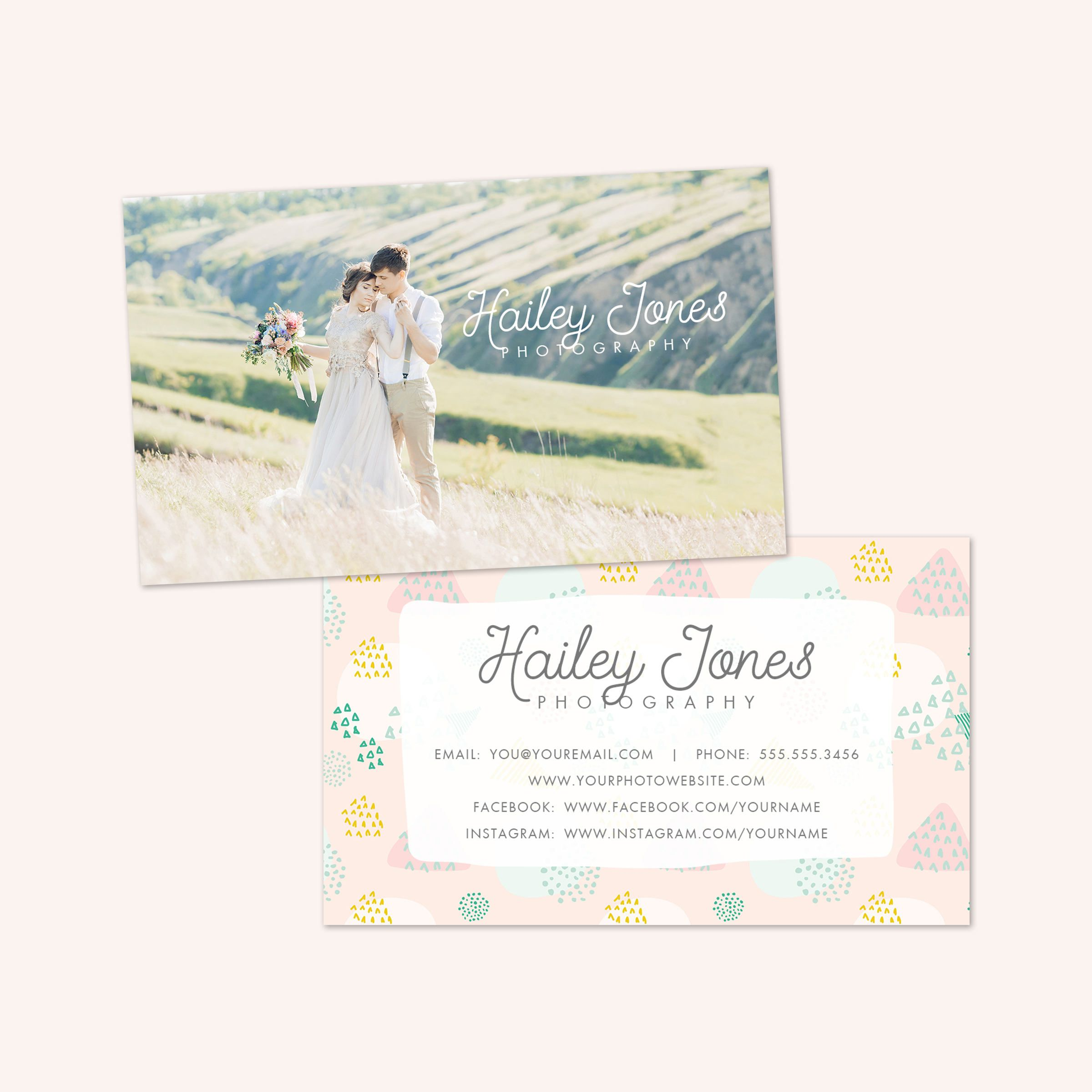 Photography business card, event planner business card design ...