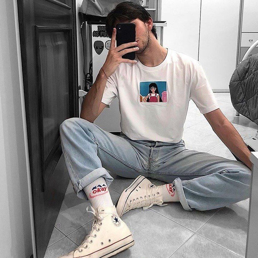 Anime T Shirt Soft Grunge Aesthetic Outfit Buy Indie Fashion Men Soft Grunge Outfits Streetwear Men Outfits Whether youre an alternative, grunge, indie or tumblr fashion fan, youre sure gonna find something. anime t shirt soft grunge aesthetic