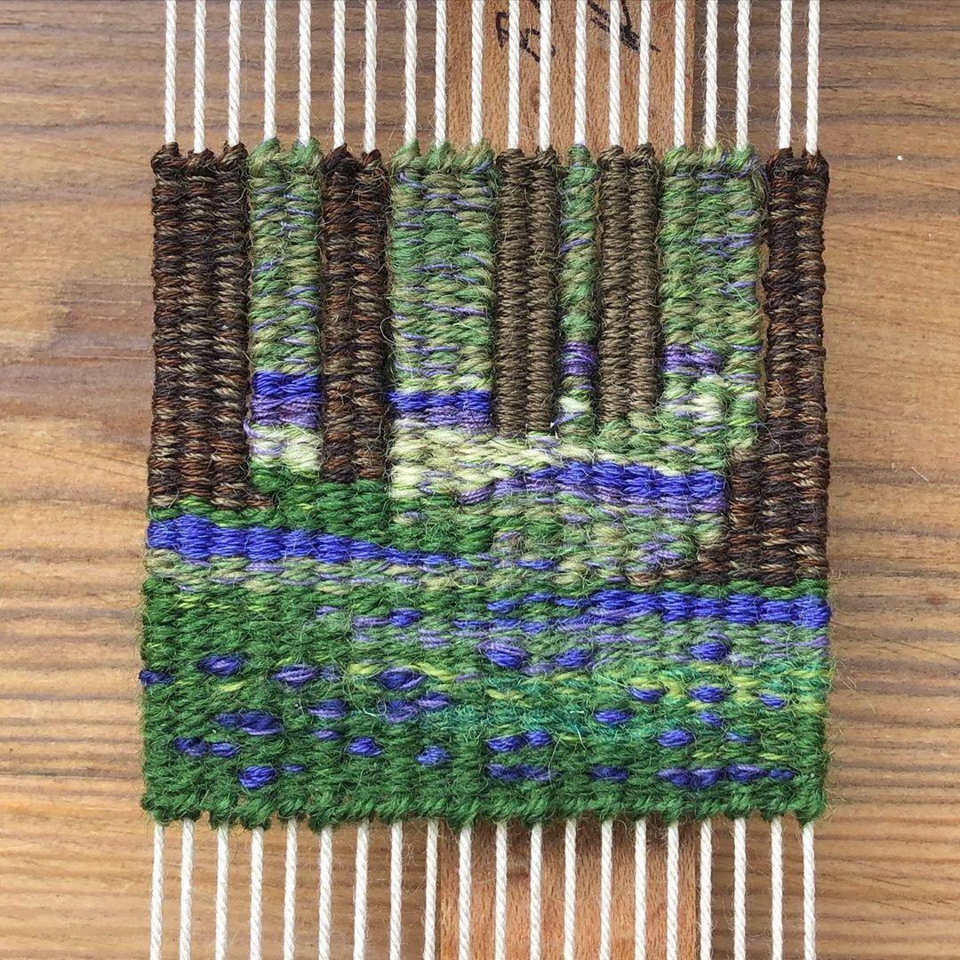 "Ayesha Barlas on Instagram: ""Day 18. #bluebellwoods #100daysprojectscotland #100daysprojectscotland2020  #tapestrydoodle #ayeshabarlas #weaversofinstagram…"""