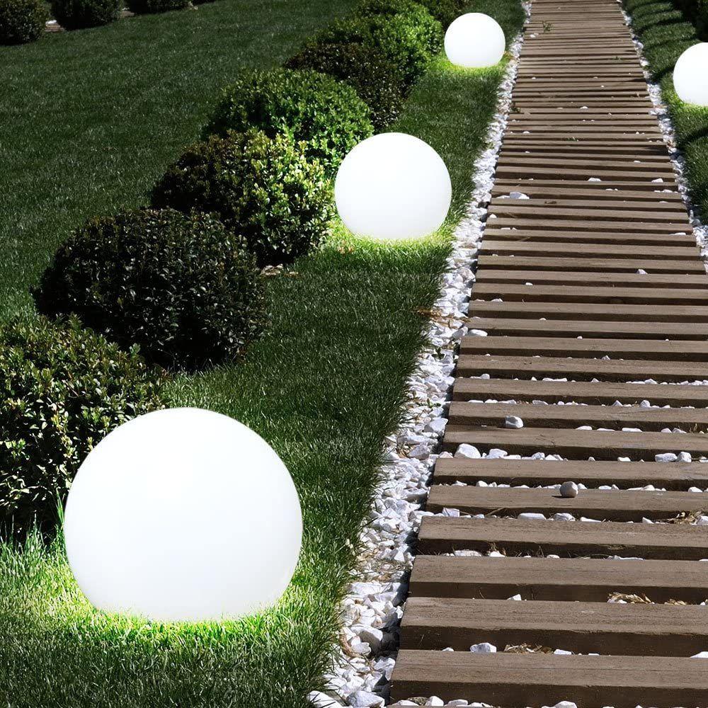 3x Led Solar Aussen Steck Lampen Garten Erdspiess Kugel Rasen Leuchten Weiss Globo 33770 3 Werbung Ad Lampen Garten Leuchten Lampen