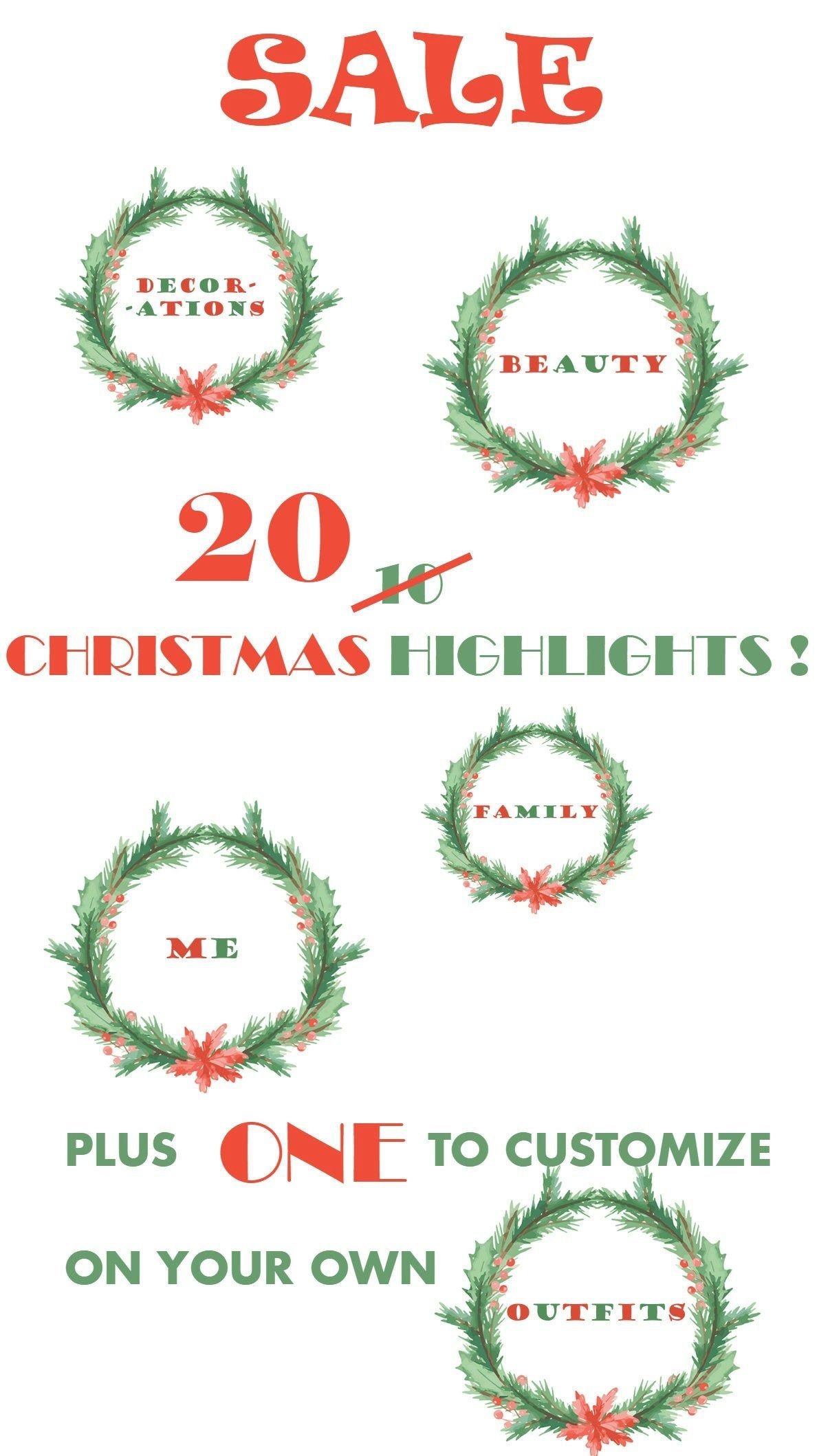 20 CHRISTMAS Instagram Highlights stories Icons, Instagram Highlight Covers, Instagram Icons, Highlights, Highlight Icons, holiday season, #instagramhighlights