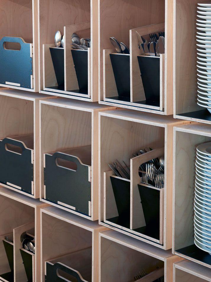 Noma FoodLab Exhibidores Pinterest restaurante Noma - muebles para cocina de madera
