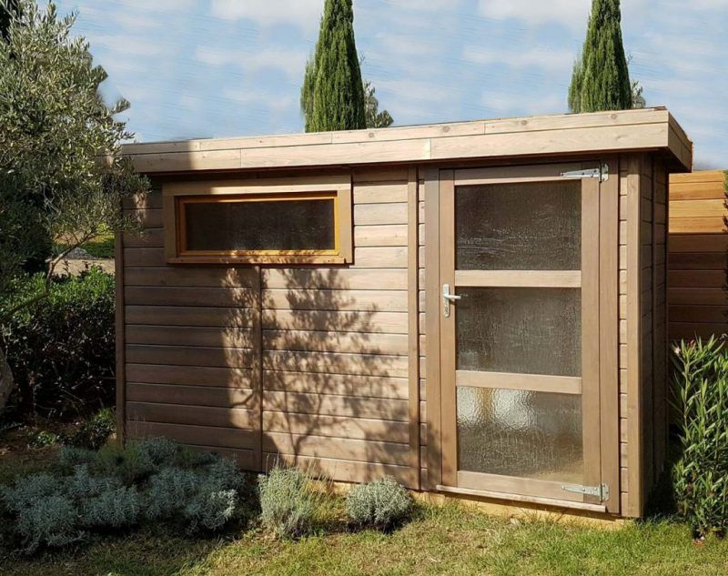 Les Realisations Abri Jardin Toit Plat Abri De Jardin Abri De Jardin Moderne