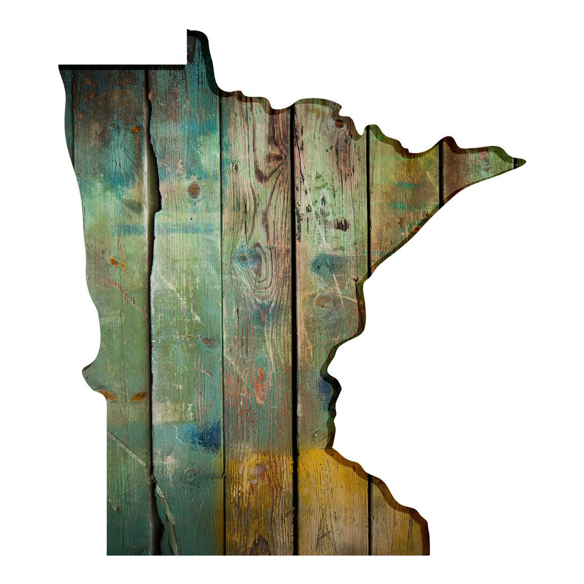 Minnesota Faux Wood| US State Art Wall Decals ...