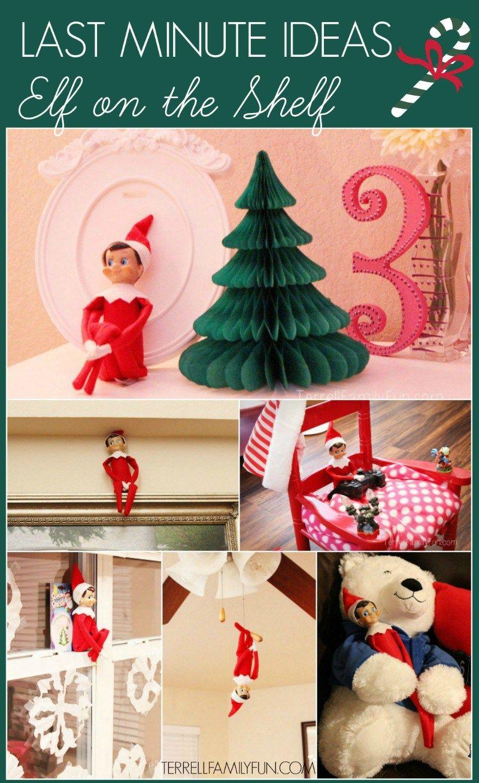 Last Minute Elf on the Shelf Ideas for Christmas