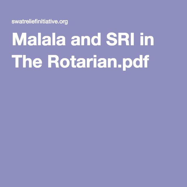 Malala and SRI in The Rotarian.pdf