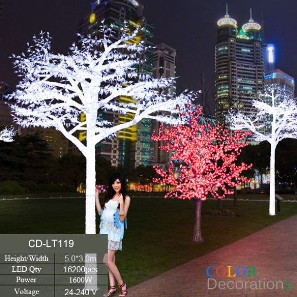 CD LT119 White Outdoor LED Lighted Trees Wedding Decorative Tree