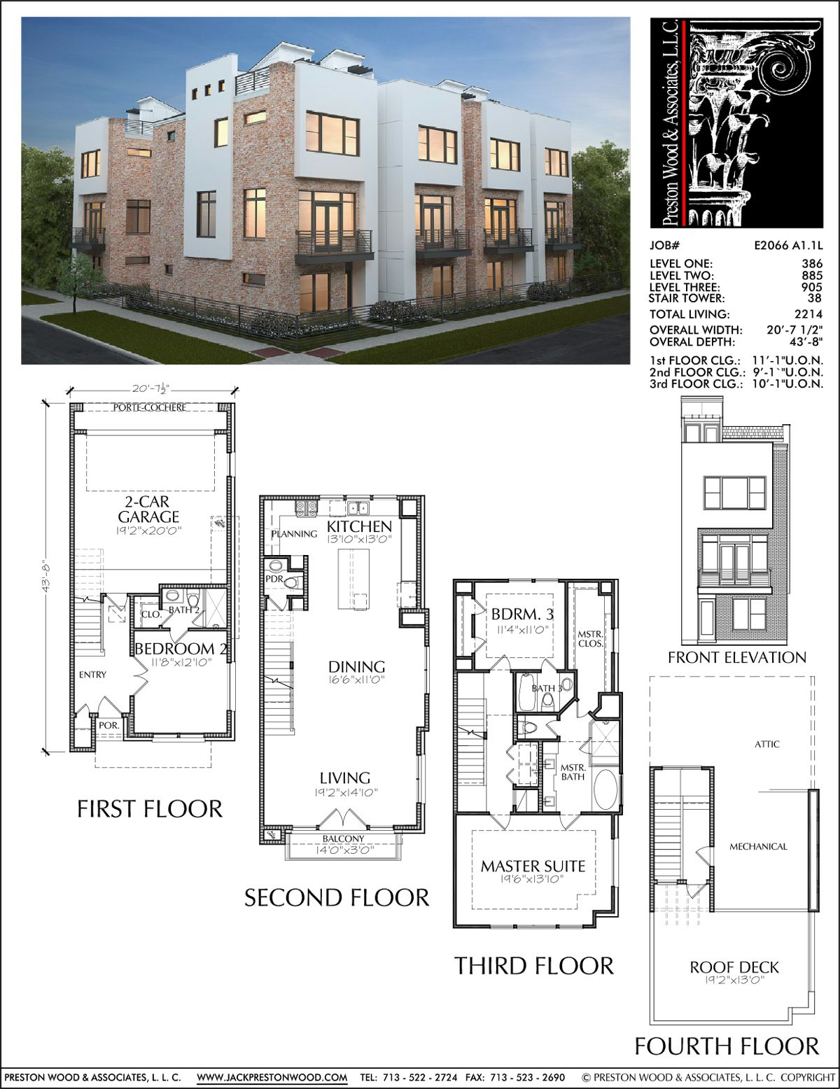3 1 2 Story Townhouse Plan E2066 A1 1 Town House Floor Plan Townhouse Designs Narrow Lot House Plans