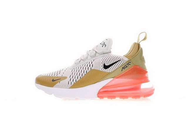 quality design bf377 42adf Legit Cheap Nike WMNS Air Max 270 gold black light bone AH6789 700 Online  Sale