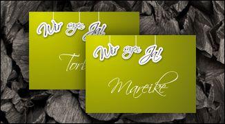 WeddingEve by Hüfner Design    Design: By a thread    Save the Date Karte, Einladungskarte, Menükarte, Tischkarte, Danksagungskarte, Buttons