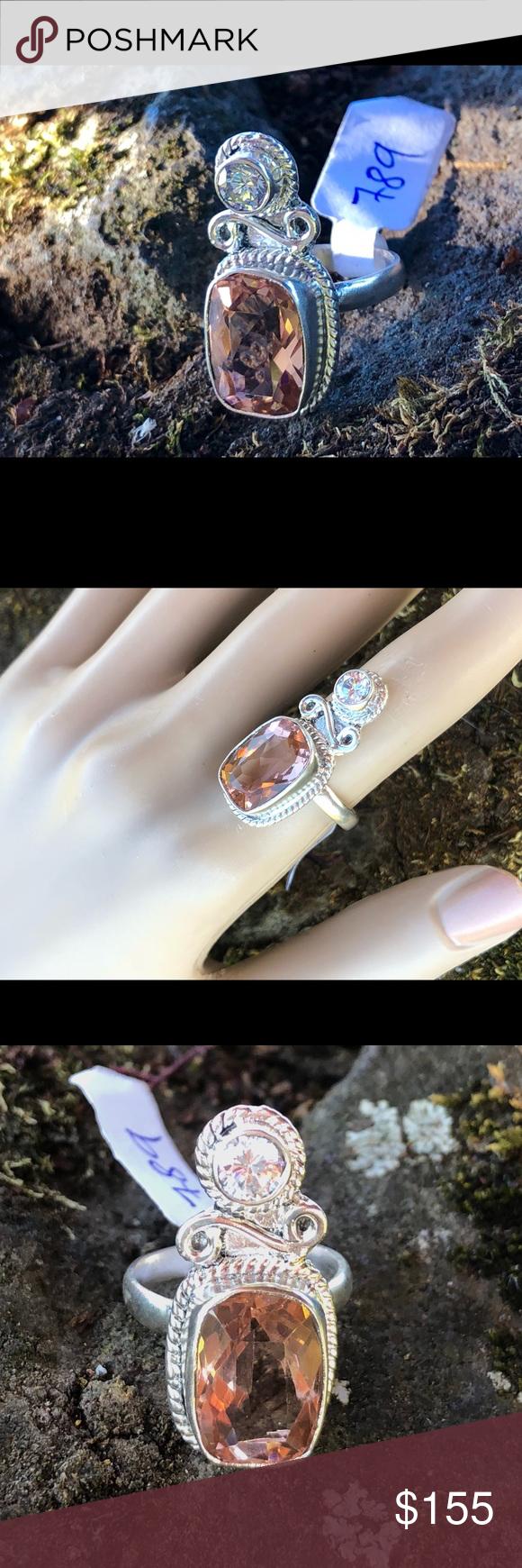 Padparadscha sapphire ring in my posh picks pinterest