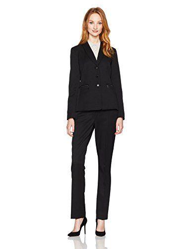 53e5f96aa127c Tahari by Arthur S. Levine Women's Shadow Stripe Pant Suit | Women's ...