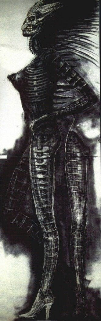 Hans Rüdi Giger: Drawing for Sil Metamorphosis of Sil's Side