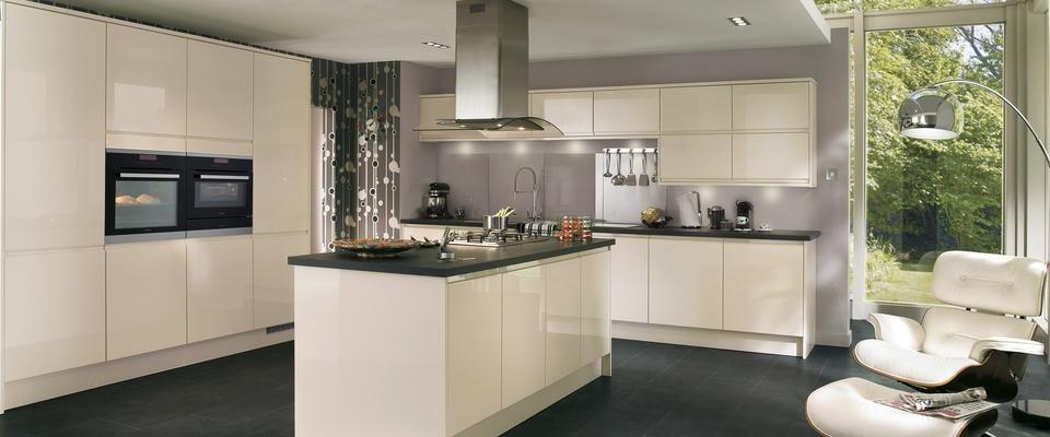 Kitchen Ideas Cream Gloss gloss cream integrated handle | kitchens | pinterest | kitchens