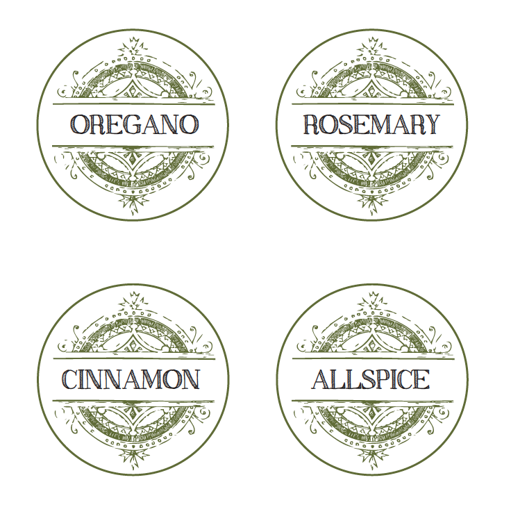 5 Best Images Of Vintage Spice Labels Free Printable   Free Printable Spice  Jar Labels, Spice Label Free Printables And Spice And Herb Labels Printable  Free