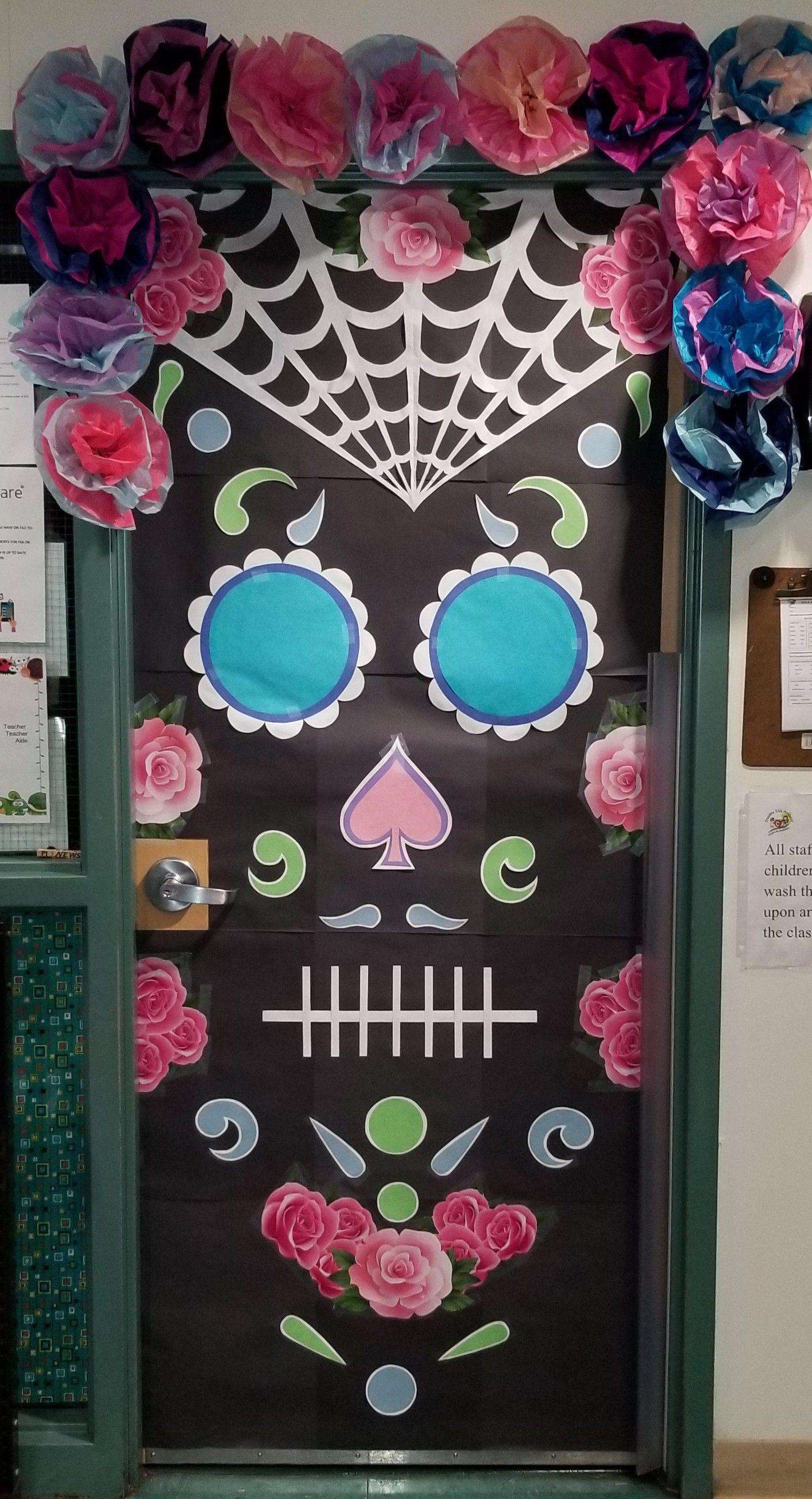 Sugar Skull Door Decoration Halloween Door Decorations Classroom
